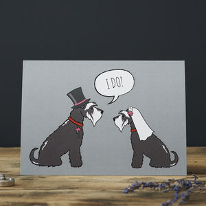 Schnauzer Wedding / Engagement Card