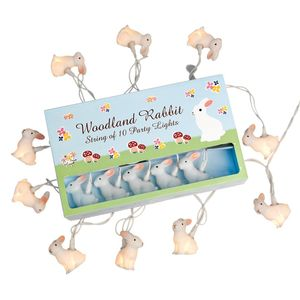 Bunny Rabbit Night Light Garland 10 Rabbits