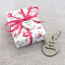 'Love You Mummy' Pewter Keyring