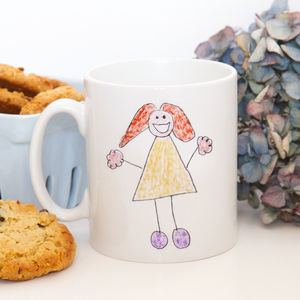 Child's Drawing Or Handwriting On A Mug - mugs