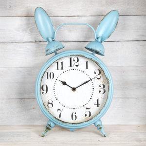 Large Vintage Style Boudoir Bunny Clock - clocks