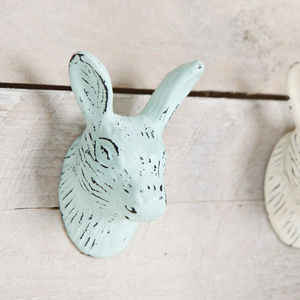 Metal Rabbit Vintage Style Wall Hook