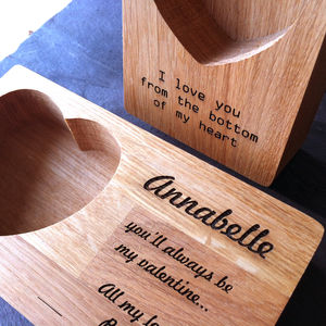 Personalised Oak Ring Storage Jewellery Tray