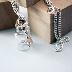 Personalised 'Message In A Bottle' Necklace