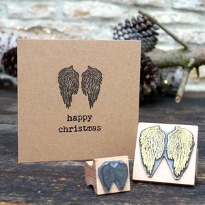Angel Wings Rubber Stamp