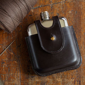 Dark Havana Hip Flask