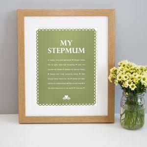 Personalised 'My Stepmum' Print