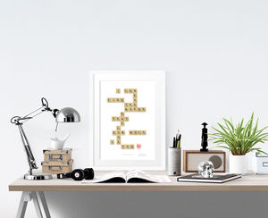 'I Can Never Find The Words' Print - typography