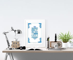 'Alice In Wonderland' Print - children's room