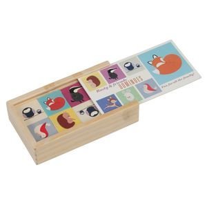 Woodland Animals Domino Game In Wooden Box