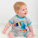 Tobias The Toucan Appliqué Romper Was £22