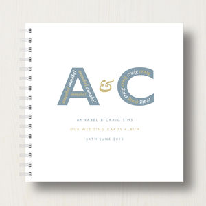Personalised Wedding Cards Album - new in wedding styling