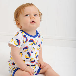 Beachball Print Romper