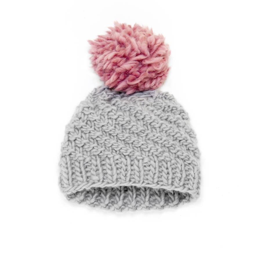 Knitting Patterns For Winter Hats : womens handmade merino pom hat, winter beanie by stitch ...