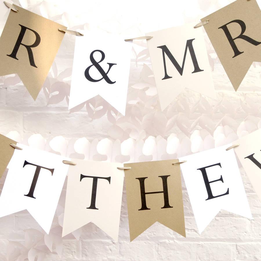Personalised Wedding Bunting