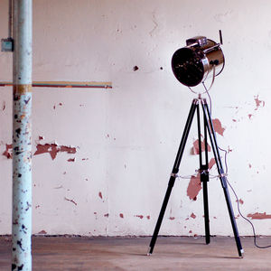 Standing Tripod Hollywood Industrial Floor Studio Lamp - office & study