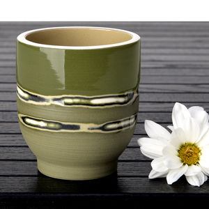 Handmade Ceramic Band Design Sake Cup