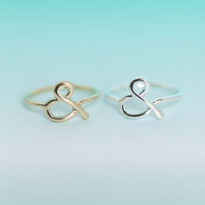 Ampersand Ring - jewellery sale