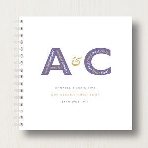 Personalised Wedding Guest Book - albums & guestbooks