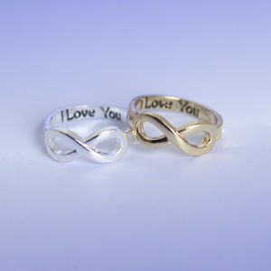 I Love You Infinity Ring - summer sale