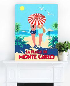 La Plage De Monte, Ready To Hang Vintage Art - contemporary art