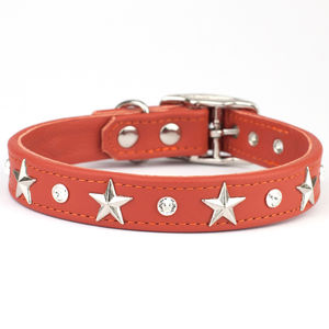 Crystal And Star Studded Dog Collar - dog collars