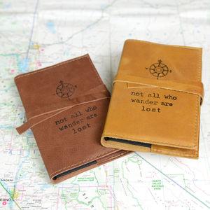 Compass Print Travel Journal