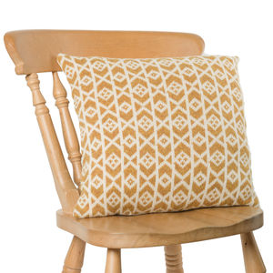 Geo Knit Cushion Cumin/Almond