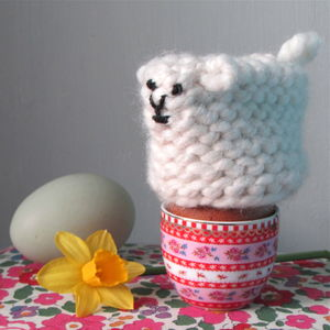 Knitted Sheep Egg Cosy - egg cups & cosies
