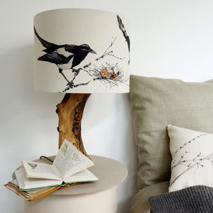 Magpie Lampshade - bedroom