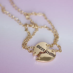 Gold Best Friends Bracelets - charm jewellery