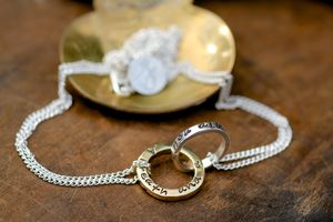 Infinity Gold And Silver Necklace