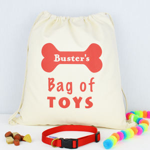 Personalised Dog Toy Storage Bag - dog toys