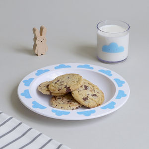 Happy Clouds – Plastic Plate - children's tableware