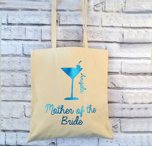 Cocktail Glitter Personalised Bridesmaid Bag - shopper bags