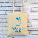 Cocktail Glitter Personalised Bridesmaid Bag