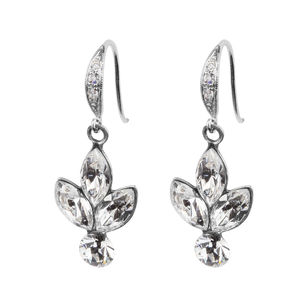 Antique Style Rhinestone Cluster Earrings - earrings