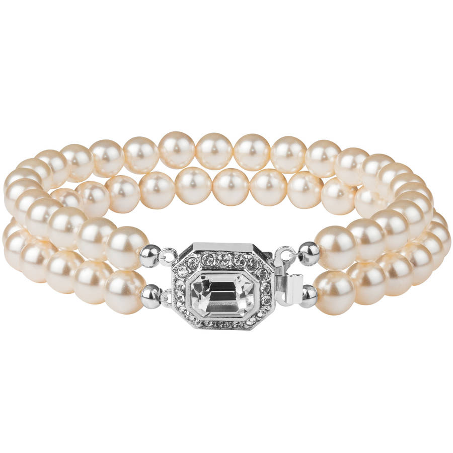 with product adorned swarovski crystals pearl bracelet claddagh