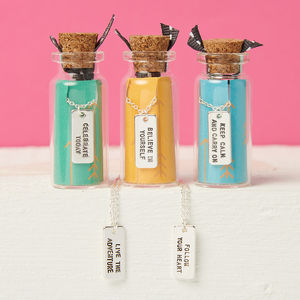 Inspirational Quote Necklace In A Bottle - gifts for teenage girls