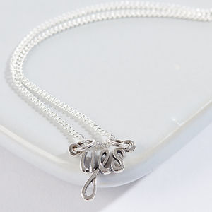 Sterling Silver Yes Necklace