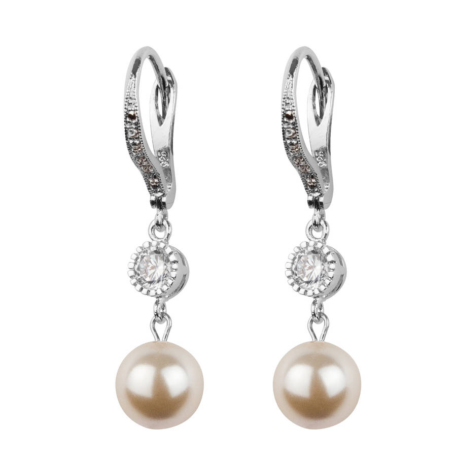 fcafe173d44ea1 crystal and pearl leverback earrings by katherine swaine ...