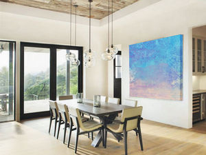 St Barts, Ready To Hang Abstract Art - modern & abstract