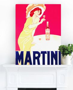 Martini, Ready To Hang Vintage Art