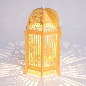 Floral Birdcage Lantern - table & floor lamps