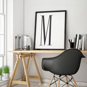 Large Personalised Offset Slim Monogram Print - art & pictures