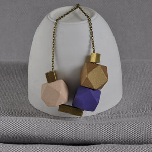 Mauve And Brass 'Cobble Stone' Necklace - women's jewellery