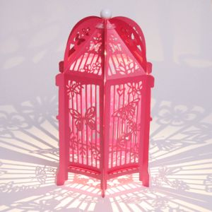 Flutterby Birdcage Lantern - table decorations