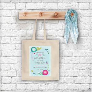 'She Sprouted Love Like Flowers' Tote Bag
