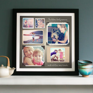 Personalised Photo Memories Collage Canvas Or Print - people & portraits