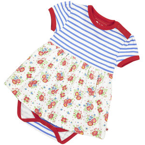 Breton Rose Baby Bodysuit Dress - clothing